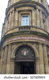 City of London Magistrates Court - LONDON / ENGLAND - SEPTEMBER 23, 2016
