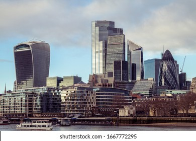 City of London on Thames river