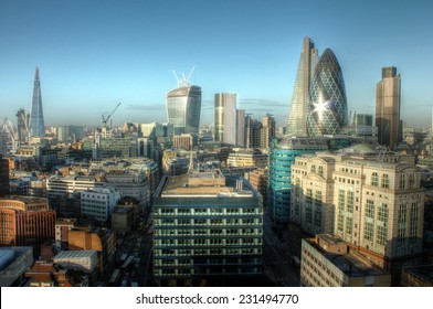 City of London Skyline. Long exposure shot.