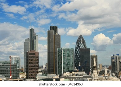 City of London view from St. Paul`s Cathedral.