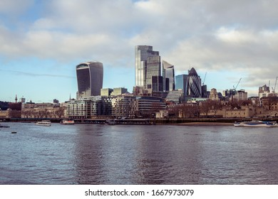 City of London view from Tames river