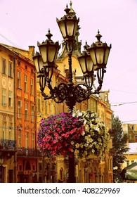 The city of Lvov (Ukraine) - Lantern in the center