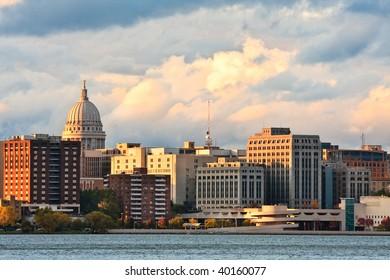 City of Madison, Wisconsin skyline