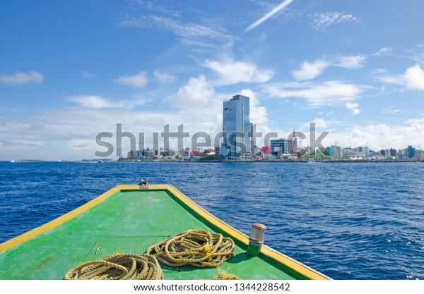City Male Island Maldives View Ocean Stock Photo Edit Now