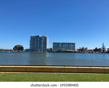 City of Mandurah, Perth, Western Australia - April 10th,2021 : Beautiful view of The Sebel Mandurah - Accor Hotel. Offering beautiful water views overlooking Mandjar Bay.