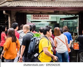 City of Manila, February 19, 2015: The famous Shanghai siopao store in Binondo