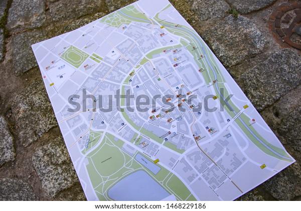 Road Map Of Germany 2017.City Map Zwickau Saxony Germany 2017 Stock Photo Edit Now