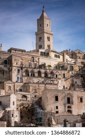 The city of Matera, in the province of Basilicata, Italy,  2019 European Capital of Culture. (UNESCO World Heritage Site), the Cathedral, 13th century