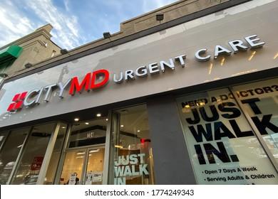 City MD Urgent Care walk in building in Brooklyn, New York. Brooklyn, New York USA May 1, 2020.