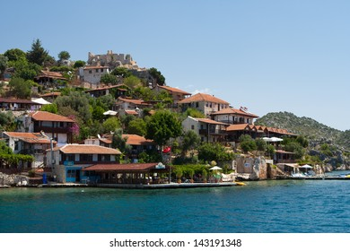 city ??on the Mediterranean Sea, Turkey