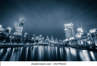 City of Melbourne at night