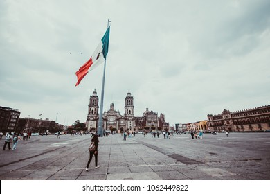 CITY OF MEXICO - JUNE 06, 2016: Zocalo of the city of Mexico