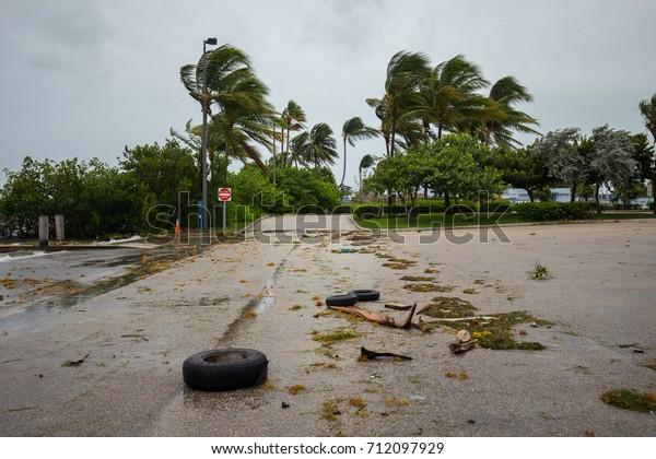 City of Miami Beach, hurricane Irma. Florida. USA.