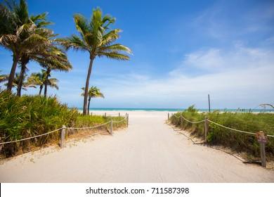 City of Miami Beach prepare for a hurricane Irma. Florida. USA.