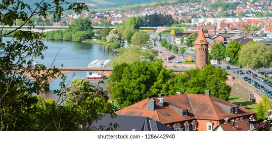 City of Miltenberg Bavaria from above