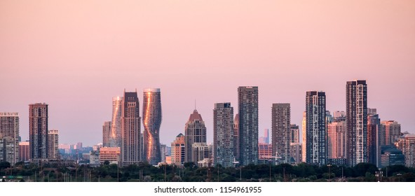 City of Mississauga Skyline at Sunset