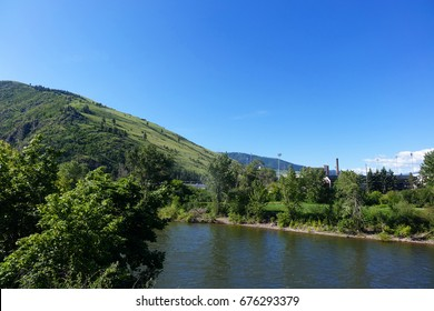 The city of Missoula, Montana is surrounded by mountains, forests and rivers.