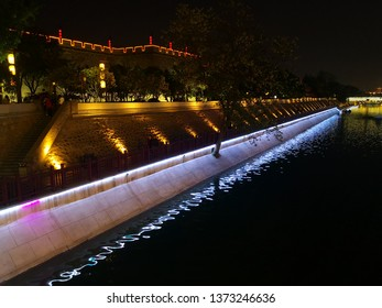 City Moat of xian, China in night