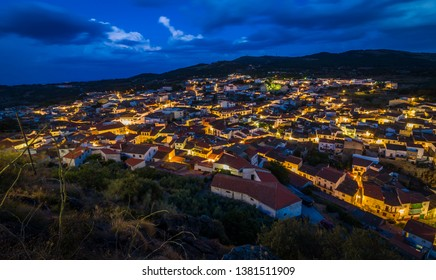 The city of Montanchez in the Caceres district in the province of Estremadura in Spain