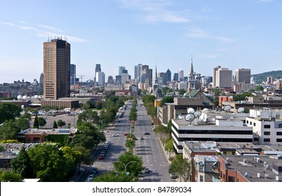 City of Montreal, View from Jacques-Cartier Bridge.