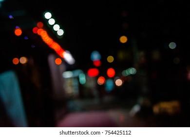 City mood - romantic bokeh background