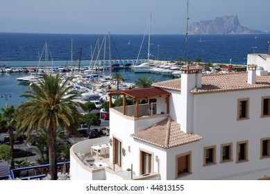 The city of moraira on the costa blanca (Spain)