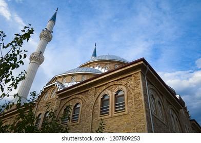 City mosque called Beayzit Cami near Pamukkale. Karahayit, Turkey.