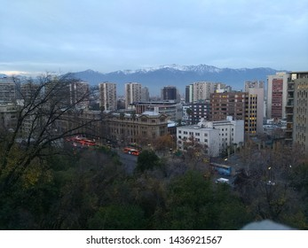 City and mountain view in Chile