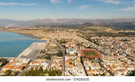 City of Nafplio in Greece. Aerial view.
