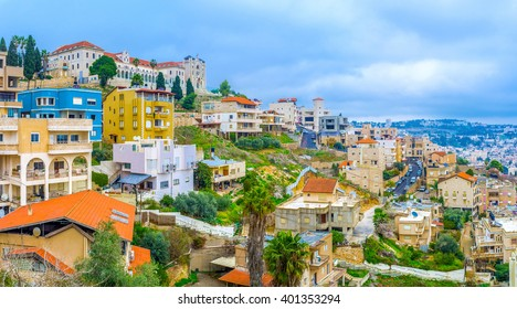 The city of Nazereth located in the hilly region Galilee in North region of Israel.