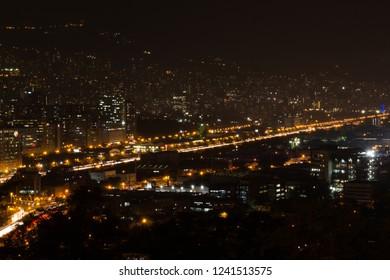 Medellín city at night