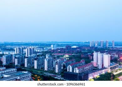 city night of china