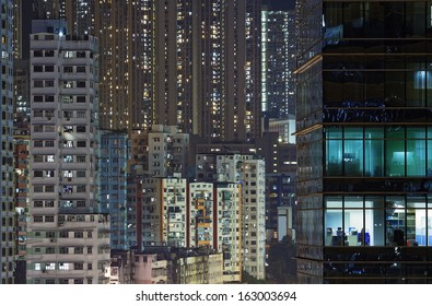 city night in Hong Kong