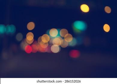 City night light blur bokeh , bokeh background.