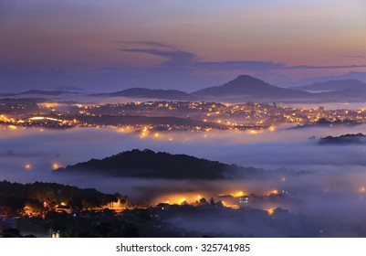 City night light, Dalat, Vietnam