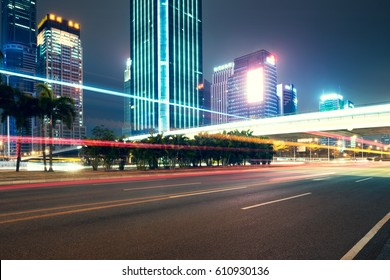 city night scenes at shenzhen,china