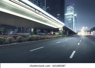 city night scenes at shenzhen,china - Shutterstock ID 631400387