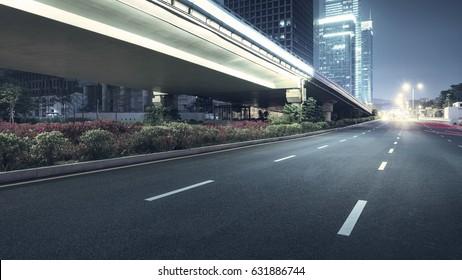 city night scenes at shenzhen,china - Shutterstock ID 631886744