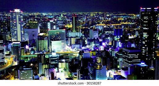 city night sky view