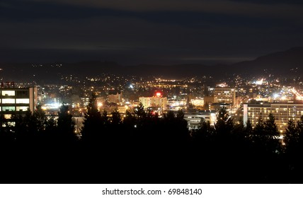 City at night. This photograph was taken on a mountain in Eugene, Oregon.