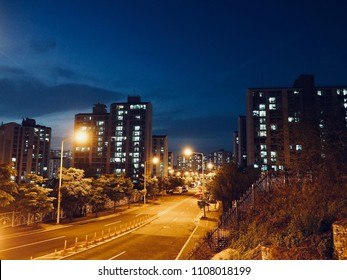 City Night View of Cheongju City, Korea