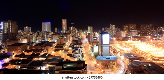 city night view of Durban, South Africa