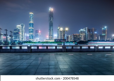 City night view of Guangzhou