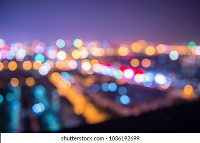 City nightscape halo