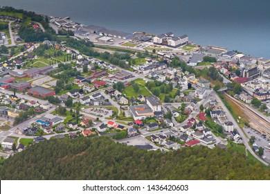 City of Åndalsnes in Norway