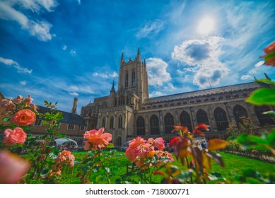 City of Norwich, England - July 7:Bury St Edmunds Abbey  in Norwich , England on July 7, 2017.