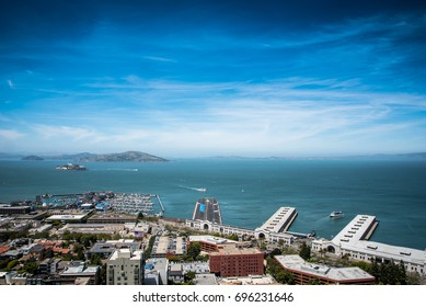 City and Ocean View Landscape