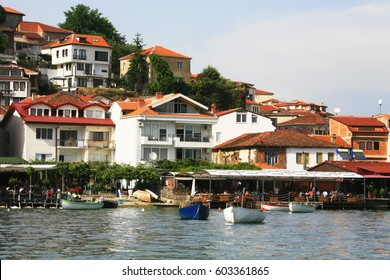 City of Ohrid, on the lake of Ohrid, Macedonia (FYROM)