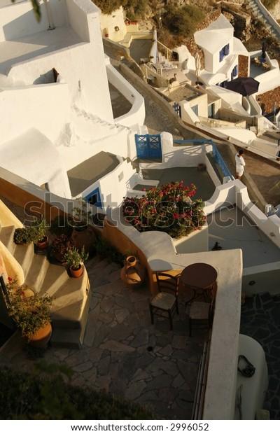 City of Oia in the Santorini island, Greece