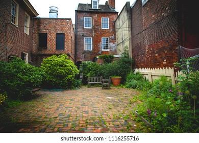 City old backyard